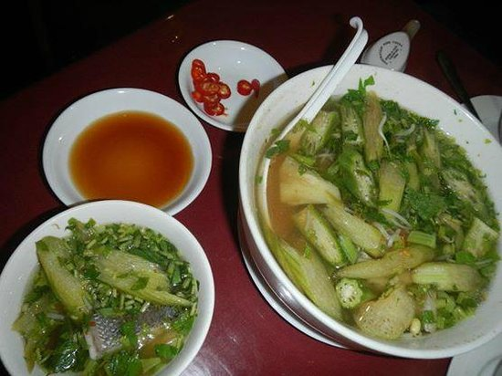 Dakbla: Canh Chua - a traditional Vietnamese sour soup cooked for us