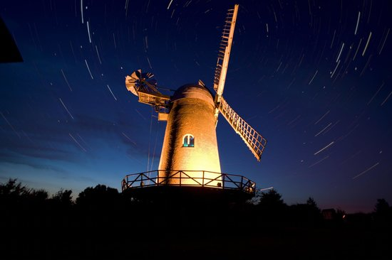 Wilton Windmill in a turning sky