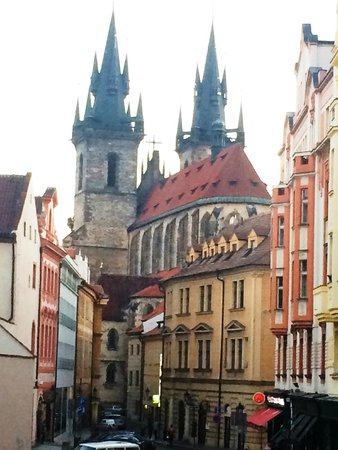 Barcelo Old Town Praha: The view of Tyn Church from our room
