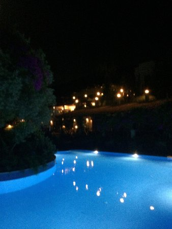Hotel Zeytinada: View of the pool at night