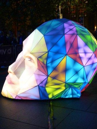 Vivid Sydney : Face at Martin Place, Vivid 2014