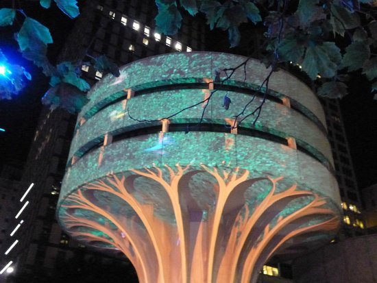 Vivid Sydney : Rain Forest at Martin Place, Vivid 2014