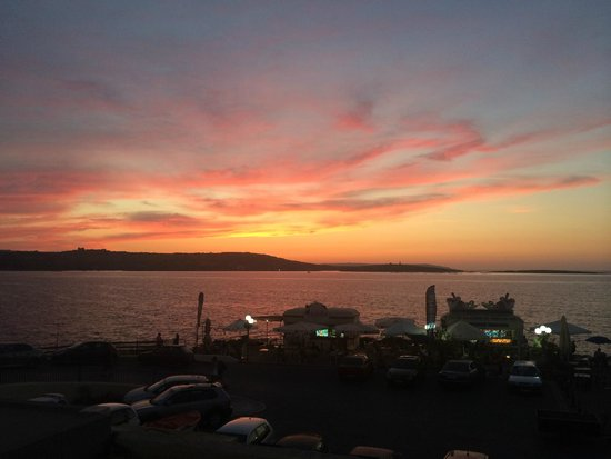 Dolmen Resort Hotel: solnedgang fra balkongen