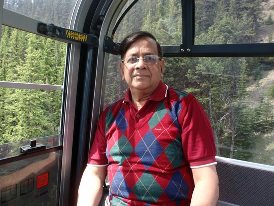 Inside the carriage of Banff Gondola
