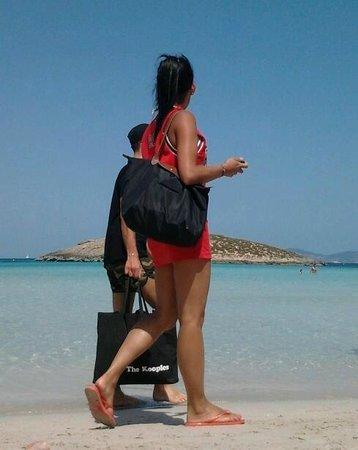 Playa de Ses Illetes: passaggio.