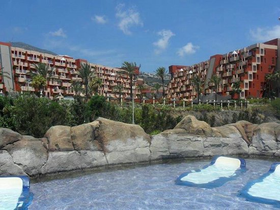 Holiday Village : View from beach club to hotel
