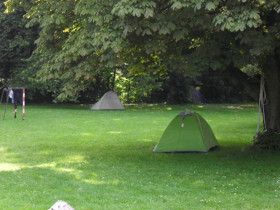 Ajax Copenhagen Youth Hostel: Wonderful area for tents