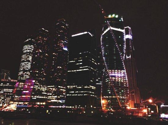Observation Deck in the Moscow-City: Москва Сити с балкончика на мосту.