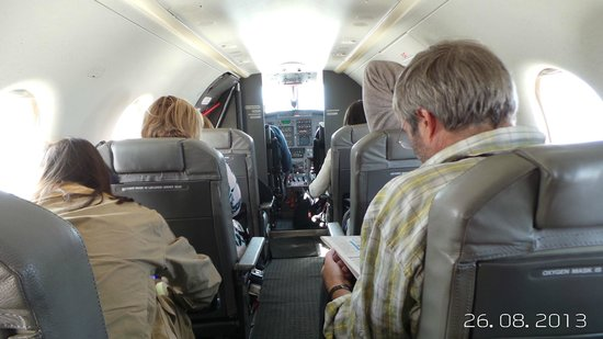 Singita Lebombo Lodge: The plane trip from JoBerg to Singita approx 1 hour