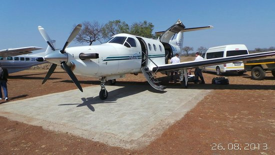 Singita Lebombo Lodge: The plane from JoBerg to Singita.