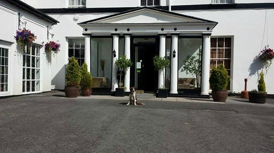 The Manor Hotel: Dougie at the front of The Manor