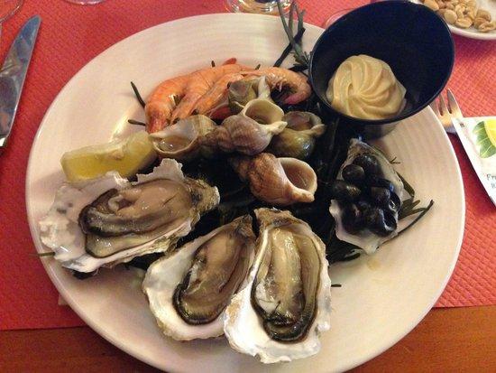 Chez Victor : Assiette de fruit de mer