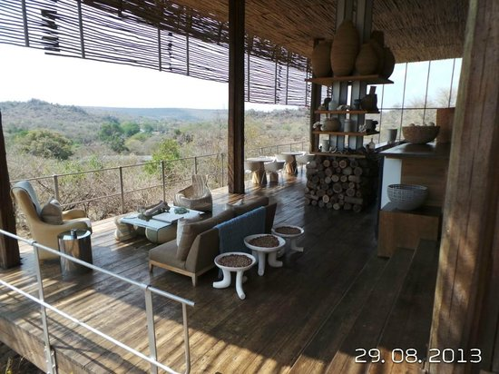 Singita Lebombo Lodge: A view from the bar.