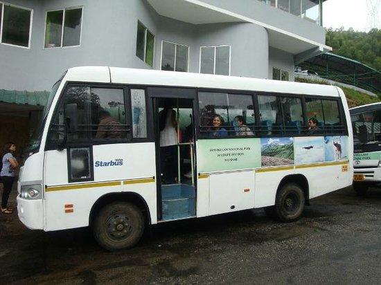 Rajamalai (Eravikulam) National Park : Official bus for the hill top