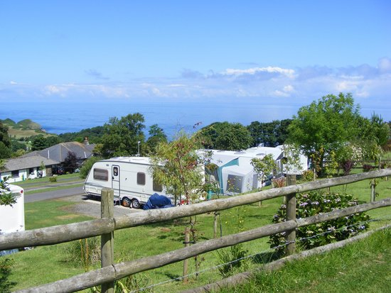 Napps Touring Holidays: view from camping field pitch 11