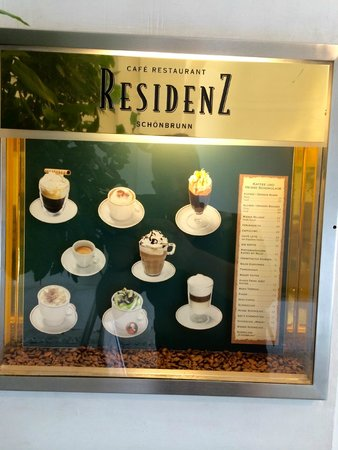 Cafe Restaurant Residenz: Amazing choices of coffee