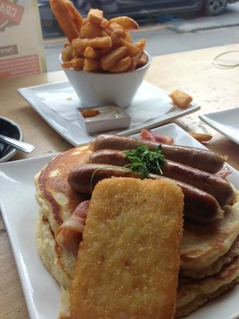 Capers Cafe: Miners Special and fries