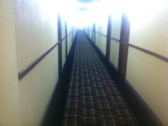 Econo Lodge: New carpets and color in hallways