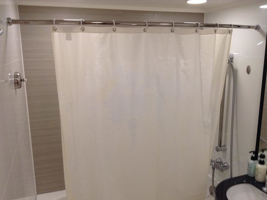 Asakusa View Hotel : シャワーカーテンは何故か寸足らず