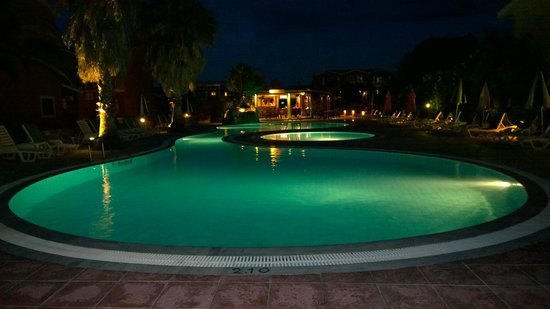 pool & bar from front gate - Picture of Orestis Apartments, Sidari ...