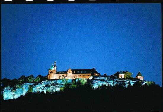 Ottrott, France : Le Mont Sainte Odile de Nuit