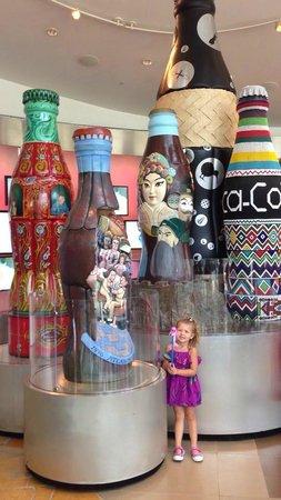 World of Coca-Cola: Kids love the artistic Coca Cola Bottles