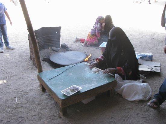 Sahara Desert : Бедуинская деревня.