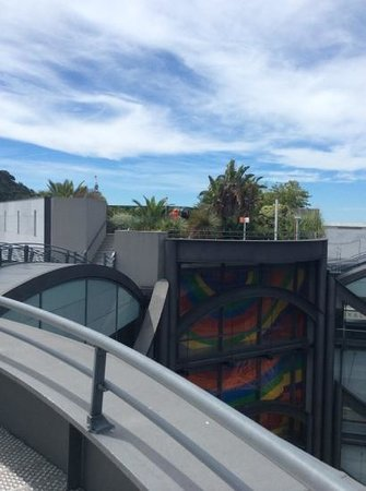 Museum of Modern and Contemporary Art: roof of museum