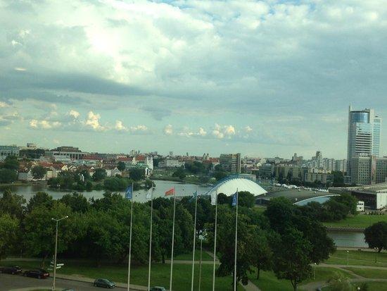 Hotel Belarus: Вид из окна отеля