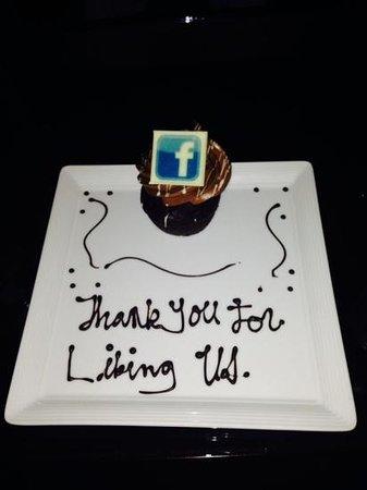 Four Seasons Hotel Las Vegas: nice cup cake !