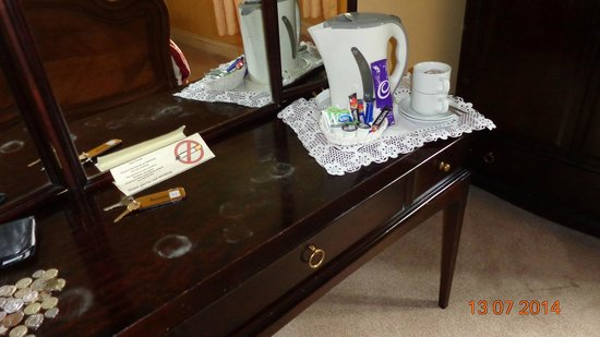 Crown and Cushion Hotel: stained furniture
