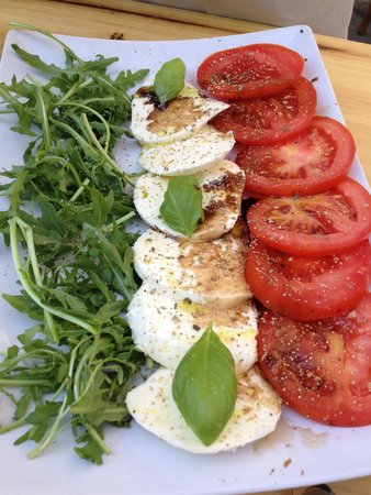 Pizzeria La Fiorita : Caprese Salad.  Ask for a drizzle of balsamic.
