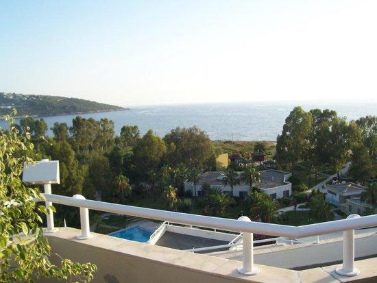 Richmond Ephesus Resort : vue du restaurant de poissons sur le toit de l'hôtel