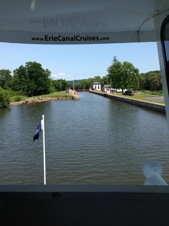 Erie Canal Cruises: Approaching Lock 18 from Herkimer