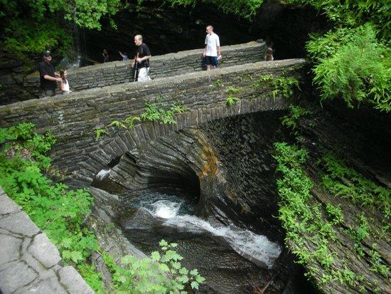 Watkins Glen State Park: Stone bridge