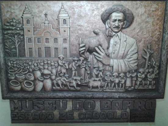 Museu Luiz Gonzaga : Mural em barro