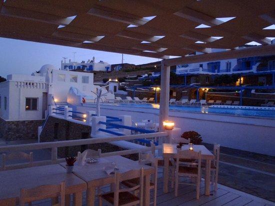 Mykonos Star : Hotel at sunset
