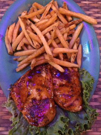 Citrus BBQ Chicken and Fries - Picture of Capt'n Jack's Island Grill ...