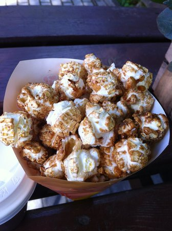 Riga Zoo: Caramelized corn from kiosk/cafe