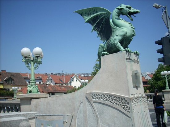 Dragon Bridge (Zmajski Most): not just an attraction, but regular traffic connection as well