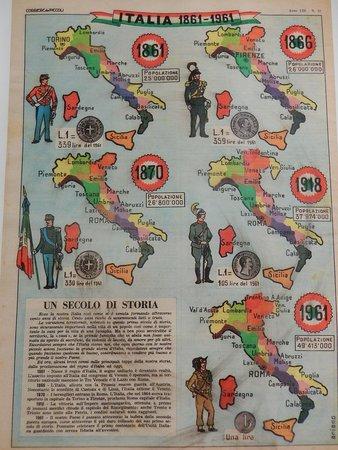 Museo del Risorgimento e della Resistenza: museo risorgimento&resistenza fe - pannello regioni italiane