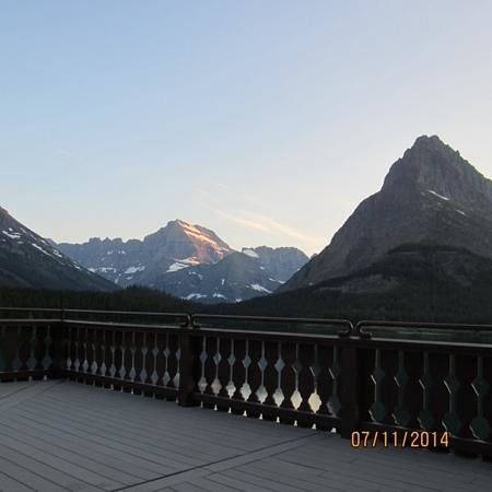 Many Glacier Hotel: view from the deck