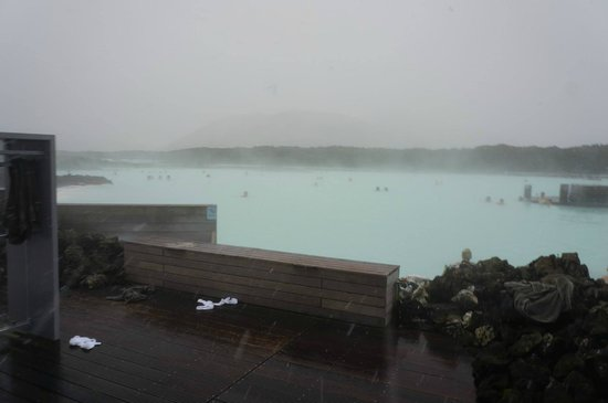 Blue Lagoon Iceland: The lagoon in the snow.