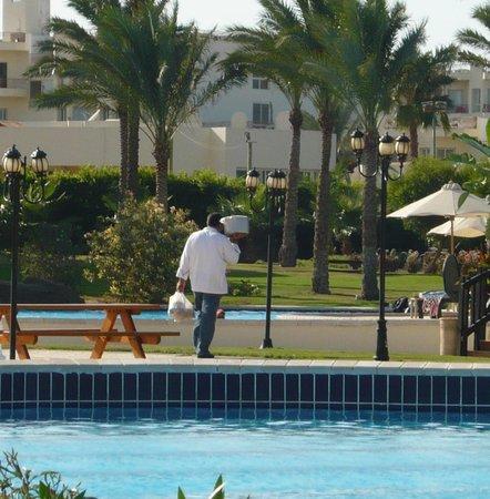 Steigenberger Al Dau Beach Hotel: Essenstraport a la Steigenberger