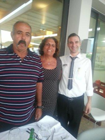 Alimounda Mare: Courteous and favorite waiter at Almond Mara giorgos