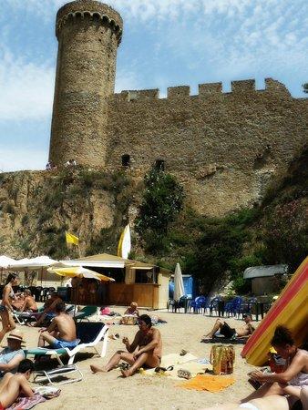 Vila Vella (Old Town): View from the sea at platja de's Codolar