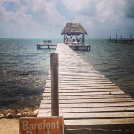 Barefoot Beach Belize: Dock, Palapa and Hammocks