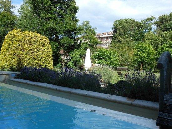 Le Moulin du Roc: La piscine qui se trouve de l'autre coté d'un petit pont