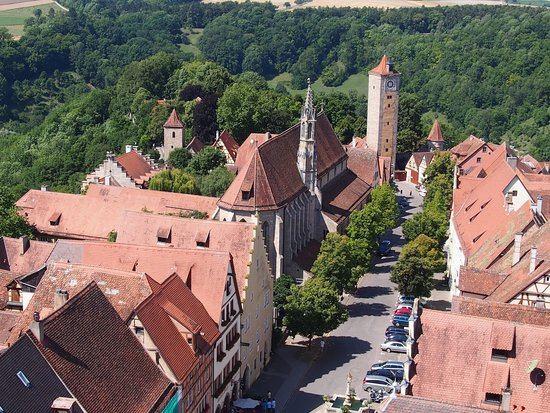 Rothenburg Town Hall (Rathaus): Udsigt over Rothenburg