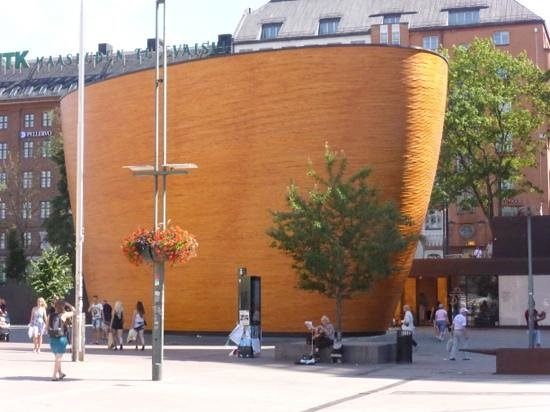 Kamppi Chapel of Silence: Take a few minutes to enjoy the square outside